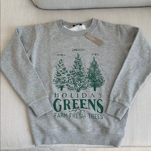 Holiday J.Crew festive trees sweatshirt
